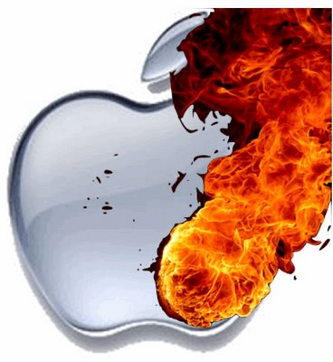 apple on fire